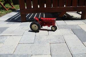 Vintage Antique Diecast ERTL Farm Red Tractor Die Cast with rare white tires