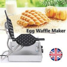 Electric Rotating Eggettes Cake Maker Machine Egg Bubble Waffle Stainless Baking
