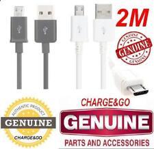 2 M Mètre Samsung Galaxy S6 câble Chargeur Micro USB & Données Chargeur