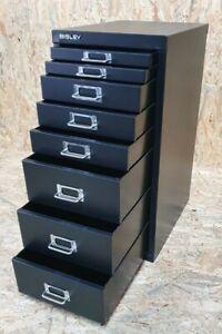 BISLEY MultiDrawer, 29er Serie, DIN A4, 8 Schubladen, Metall, Schwarz