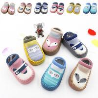 Newborn Slipper Shoes Boots Anti-slip Socks Cartoon for Baby Girl Boy 0-18Months