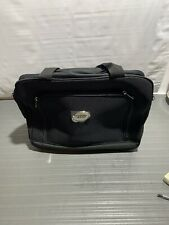 PRE-OWNED JIO BLACK ROLLING DUFFLE BAG WITH OUTSIDE ZIPPERS-VERY GOOD CONDITION