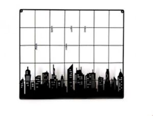 Large Messenger Board Peg Black Iron Note Wall Mounted Organiser Home Decoration