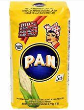 HARINA PAN 5 Lb Pack! VENEZUELA RICAS AREPAS WHITE CORN MEAL FLOUR