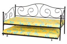 New Bold Tones Twin Metal Daybed with Trundle