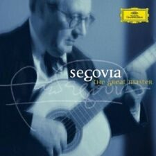 ANDRES SEGOVIA - THE GREAT MASTER; 2 CD  54 TRACKS CLASSIC SOLO GUITAR  NEW+