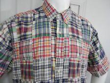 Ralph Lauren Polo RL Madras Plaid Patchwork India Dress Men's Shirt XL