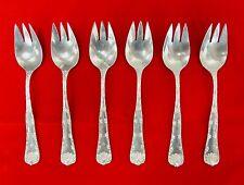 TIFFANY & CO. Six Sterling Silver Wave Edge Dessert Forks - No Monogram