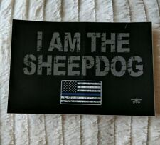 """Atlantic Signal Headset Airsoft Military """"I AM THE SHEEPDOG"""" Decal 6""""x 4"""""""