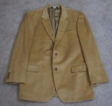 Jos A Bank Camel Brown Wool Silk Corduroy Sport Coat Jacket Blazer Mens Size 44L