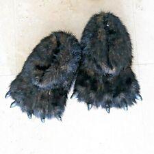 2 pr Adult Unisex Bear Monster Animal SLIPPERS House Sz Large W 8-11 / M 9 - 11