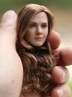 """1:6 Female Head Hermione Emma Watson Sculpt Model Fit 12"""" Girl Figure Toy Gift"""