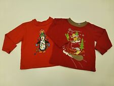 Boys Wee Winter Woolies Size 12M Penguin Shirt & Disney Size 18M Pooh Shirt