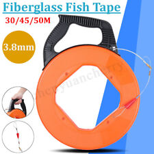30/50M Fiberglass Cable Wire Pulling Reel Conduit Duct Rodder Fish Tape