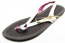 Sanuk Size 8 M White Slingback Synthetic Women Sandal Shoes