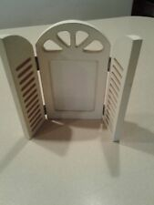 """3.5""""X 5"""" Open & Close White Shabby Chic Shutter Picture Frame"""