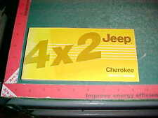 1986 JEEP CHEROKEE 4X2 OWNER'S GLOVEBOX MANUAL excellent