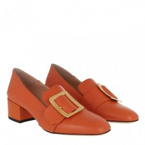 Bally Janelle Leather Pump Shoes Mandarino size 36.5 - NEW