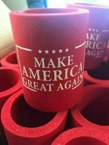 2 PC Trump 2020 Beer koozie can cooler huggie beverage coozie RED MAGA ASSO COLO
