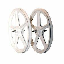 "Skyway Tuff II 20"" BMX Wheelset 5 Spoke Bolt 20 x 1.75 White 3/8"" Freewheel"