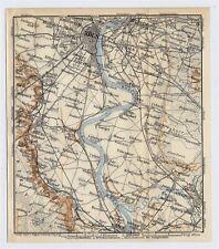 1911 ANTIQUE MAP OF VICINITY OF KOELN KOLN COLOGNE BONN GERMANY
