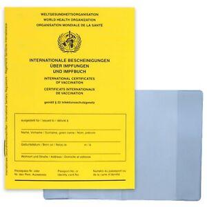 Impfpass inkl. Hülle - 2021 WHO zertifiziert Impfbuch Impfausweis International