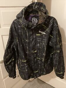 Volcom Nimbus Men Winter Jacket Ski Snowboard Black Green Design 10000MM Small