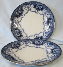 Ford & Sons Flow Blue Douglas Dinner Plate set of 2