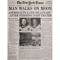 VINTAGE PHOTO SPACE NEWSPAPER MOON ALDRIN ARMSTRONG NEW FINE ART PRINT POSTER PI