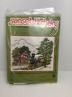 "Sunset Stitchery 1979 Country Depot Crewel Kit 16""x20"" NEW 2483"