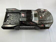 Arrma Kraton 6s EXB BLX Body Shell Black & Rear Wing With Mount ARA406159 Clips