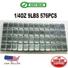 1 BOX 1/4 OZ ZINC WHEEL WEIGHTS STICK-ON ADHESIVE TAPE 9 LBS LEAD-FREE 576 PCS
