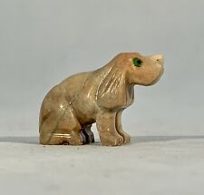 Stone Beagle/Hound-Hand Carved-Peru-Vintage-1.75⠀�