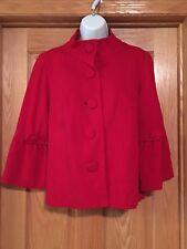 Laura Ashley Petite Blazer PL Red Bell Sleeve