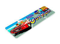TIN SIGN Out Run Arcade Racing Game Room Marquee Console Metal Décor A894