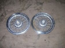 Pair of  1984-1992 CHEVROLET CAPRICE WIRE WHEEL COVERS, 15""