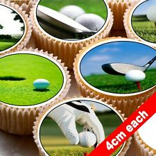 24 Edible wafer Bun Fairy cake toppers decorations ND2 Golf buggy ball club