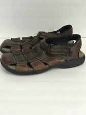 Clarks Mens Fisherman Sandals Brown Leather Shoes 38052 Size 10M