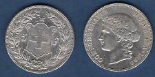 Suisse 5 Francs 1890 Bern Argent TTB + - Swiss Helvetia
