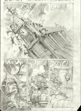 SIMON BISLEY original art, THE DEAD #2 pg 1, Zombies, Church, Decap, 11x16