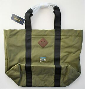 New POLO RALPH LAUREN Olive Green MOUNTAIN SHOPPER TOTE Bag