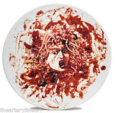 VIK MUNIZ 'Medusa Spaghetti Marinara' Limoges Plate 1999 Norton X-Mas Ltd Ed NEW