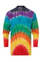 Grandad Shirt Tie Dye 100% Cotton Kurta Hippy Boho Festival Hippie Jacket Nepal