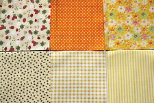 Patchwork No 02 - 24 x 4 inch Charm Squares - Cream & Yellow - Sewing & Quilting