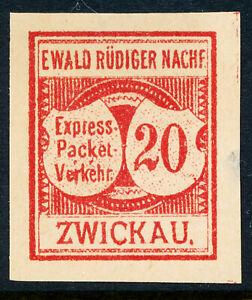 Zwickau Express-Packet-Verkehr 1889 Town Local, PrivatPost