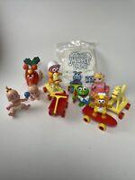 Vtg McDonalds Muppet Babies 1986 PVC Toy Figures - Kermit, Piggy, Fozzie, Animal