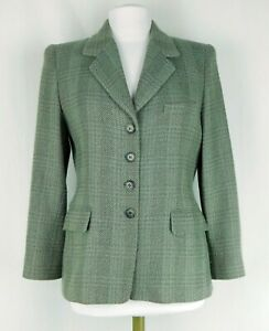 Ellen Tracy Linda Allard Size 10 Petite 100% Wool Suit Blazer Tan/Taupe Lined