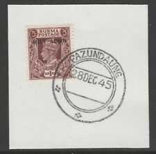 Burma 5973 - 1945 MILY ADMIN 1a on piece with MADAME JOSEPH FORGED POSTMARK