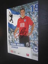 53788 Lasogga Hertha BSC Fehldruck original signiert Autogrammkarte