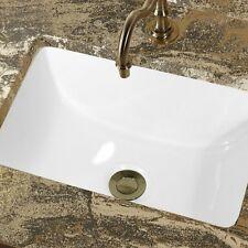 CERAMIC UNDERMOUNT BATHROOM SINK 18 x 13 Rectangle White
